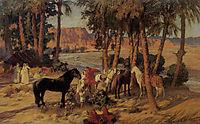 An Arab Encampment, bridgman