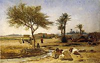 An Arab Village, 1879, bridgman