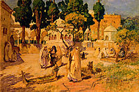 Arab Women at the Town Wall, 1925, bridgman