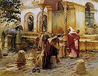 Fountain of Birkadem, Algiers, 1896, bridgman
