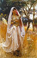 La jeune mauresque, Young Algerian Girl, 1880, bridgman