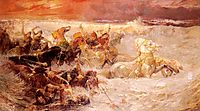Pharaoh-s Army Engulfed By The Red Sea, 1900, bridgman