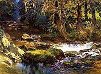 River Landscape with Deer, bridgman