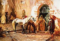 Scene in Morocco, 1885, bridgman