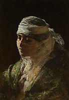 A Veiled Beauty, 1880, bridgman
