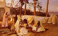 Women at the Cemetery, Algiers, bridgman