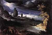 Coastal Landscape, 1596, bril