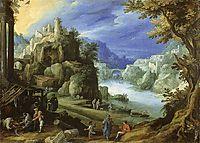 Fantastic mountain landscape, 1598, bril
