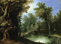 Landscape with a Marsh, 1595, bril