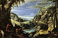 Landscape with Mercury and Argus, 1606, bril