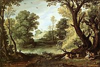 Landscape with Nymphs and Satyrs, 1623, bril