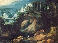 Landschaft mit Sibyllentempel, 1595, bril