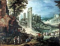 Römische Ruinenlandschaft, bril
