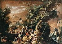 Ruins and Figures, 1600, bril