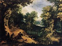 The Stag Hunt, 1595, bril