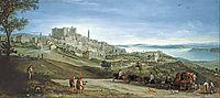 View of Bracciano, 1620, bril