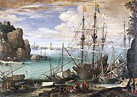 View of a Port, 1607, bril
