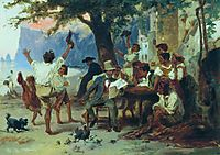 At a roadside tavern, 1868, bronnikov