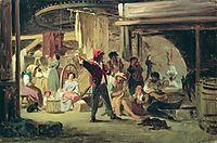 Backstage of the circus, 1859, bronnikov