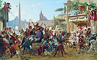 Carnival in Rome, 1860, bronnikov