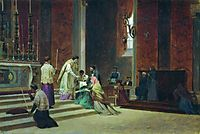 The Catholic Mass, 1869, bronnikov