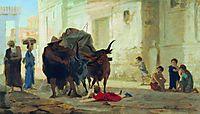 Children on the streets of Pompeii, bronnikov