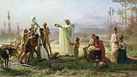 Consecration of the herm, 1874, bronnikov