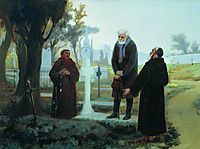 Exile in front of the grave, 1870, bronnikov
