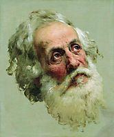 The head of the Apostle Peter, bronnikov
