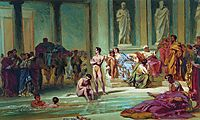 In the Roman Baths, 1865, bronnikov