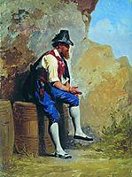 Italian peasant on the barrel, bronnikov