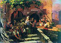 The Italian Tavern, 1858, bronnikov
