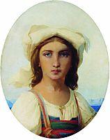 Italian woman, 1869, bronnikov