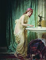 The lady at the morning toilet, bronnikov