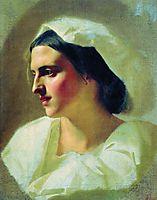 The lady in white, c.1880, bronnikov