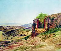 Landscape with ruins, bronnikov