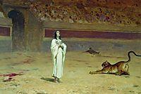 Martyr on a circus ring, 1869, bronnikov