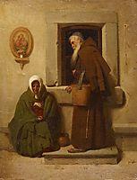 The monk and the beggar, 1902, bronnikov