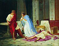 Murder scene, 1859, bronnikov