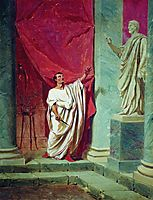 The Oath of Brutus before the statue, bronnikov