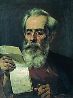 The old man reading a letter, bronnikov