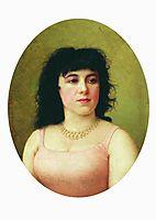 Portrait of an Italian ballerina Virginia Zucchi, 1889, bronnikov