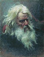 Portrait of an old man, bronnikov