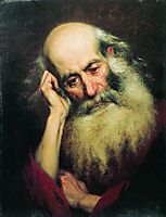 Portrait of an old man, 1874, bronnikov