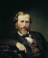Portrait of the Artist K.D. Flavitsky, 1873, bronnikov