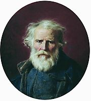 Portrait of the artist-s father, 1871, bronnikov