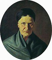 Portrait of the artist-s mother, 1871, bronnikov