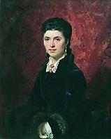 Portrait of Elena Grigoriyevna Tolstaya, 1874, bronnikov