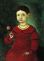 Portrait of a Girl Evdokia Kuznetsova, 1842, bronnikov