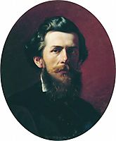 Portrait of A.P. Bogoliubov, 1856, bronnikov